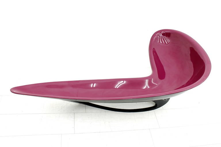 Stefan Sterf Ecstasy Fiberglass Boomerang Bench Germany, circa 1990s For Sale 2