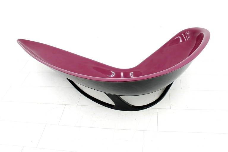 Stefan Sterf Ecstasy Fiberglass Boomerang Bench Germany, circa 1990s For Sale 3