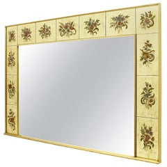 Decorative Large Mirror from France, circa 1980s signed
