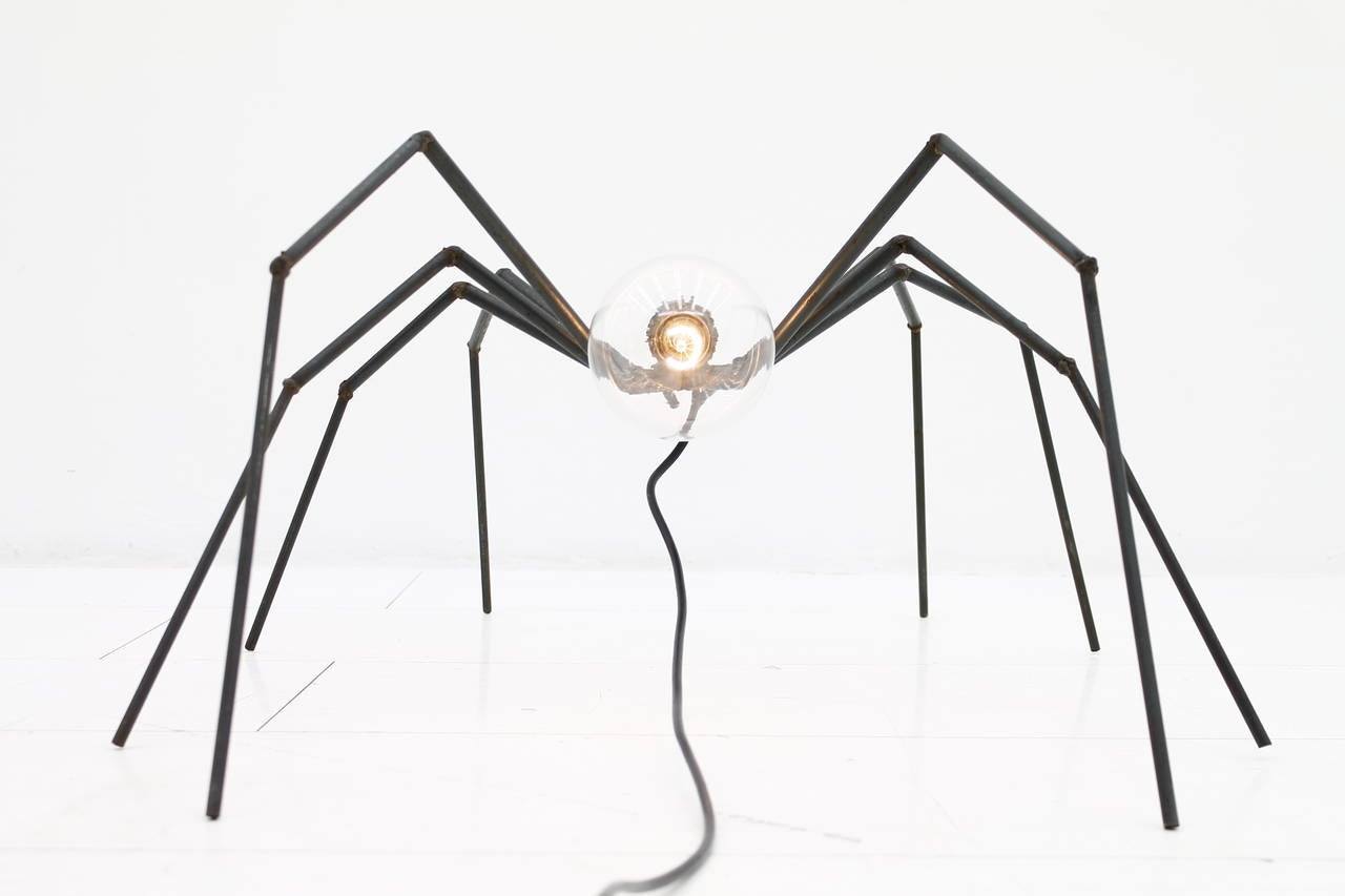 European Brutalist Spider Floor or Table Lamp, circa 1970s