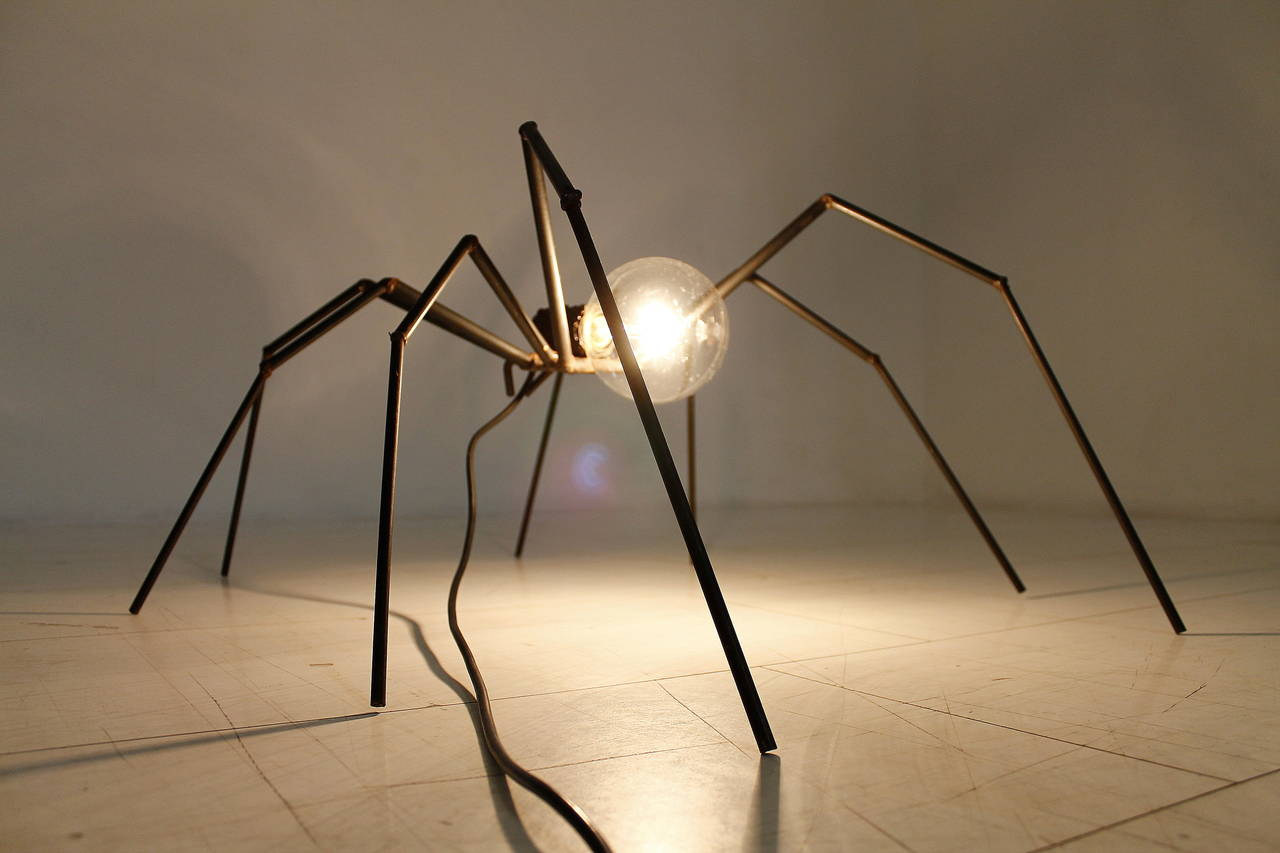 Brutalist Spider Floor or Table Lamp, circa 1970s 1