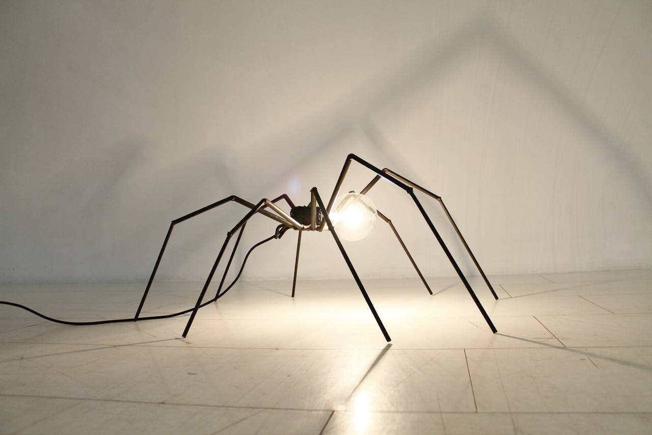 Brutalist Spider Floor or Table Lamp, circa 1970s 3