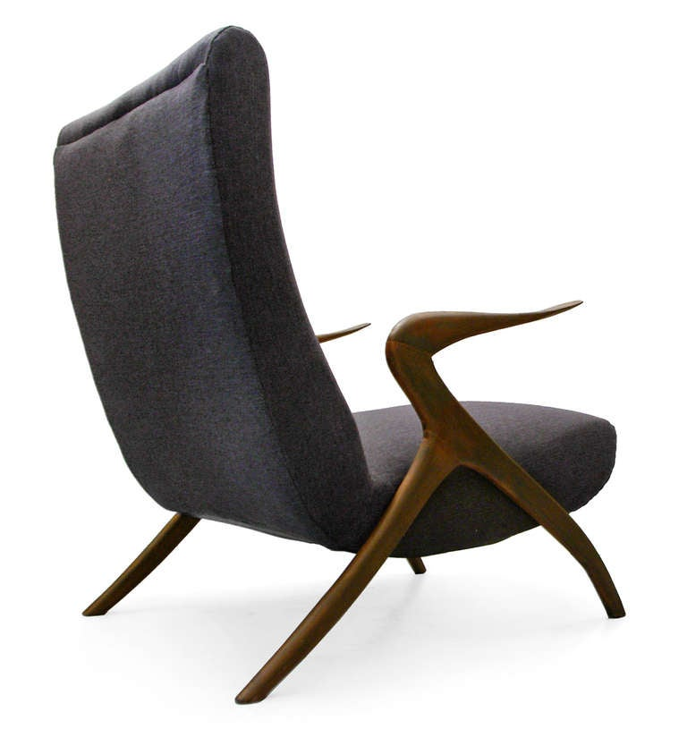Italian Lounge Chair Midcentury Modern 50 S Italy At 1stdibs