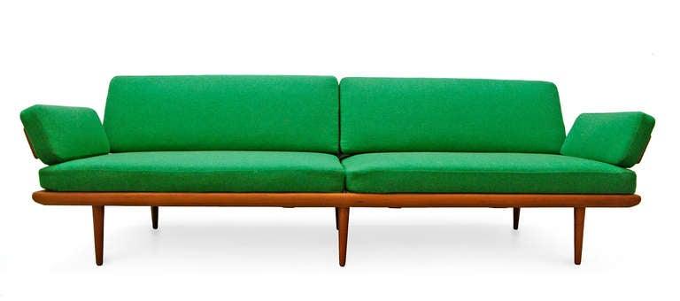 sofa by peter hvidt and orla m lgaard nielsen minerva teak 60 39 s danish modern at 1stdibs. Black Bedroom Furniture Sets. Home Design Ideas