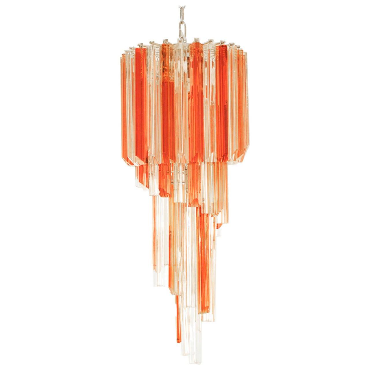 Venini Murano Glass Chandelier Italy Mid Century Modern