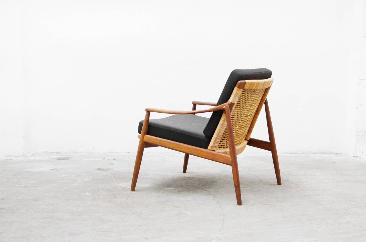 easy chair by hartmut lohmeyer for wilkhahn teak mid 20th century modern design at 1stdibs. Black Bedroom Furniture Sets. Home Design Ideas