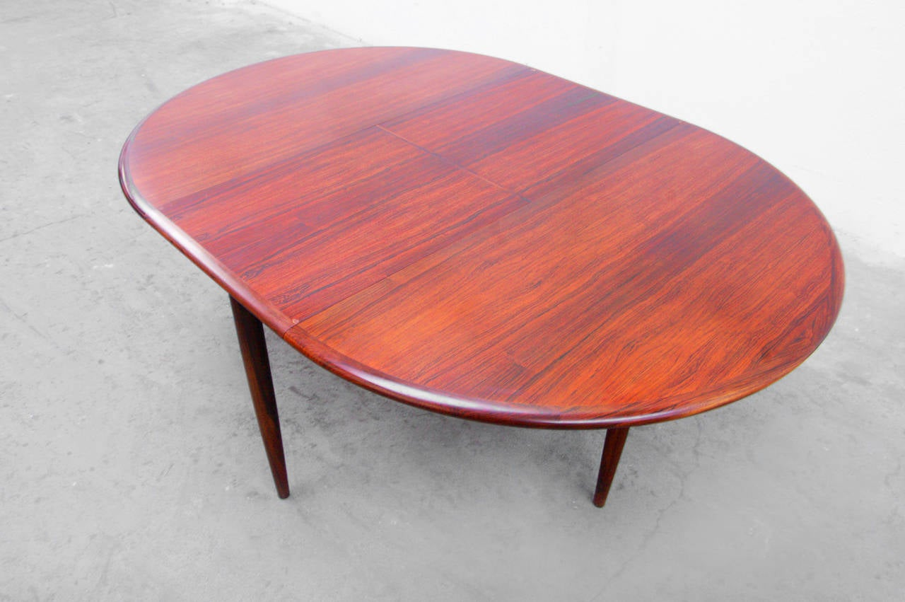 Esstisch Danish Teak ~ Extendable Dining Table by Niels Otto Møller No 15, Danish Rosewood, 1960s a