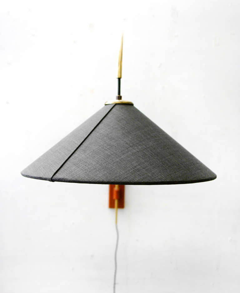 Vintage Danish Wall Lights : bow lamp midcentury modern Teak danish wall light at 1stdibs