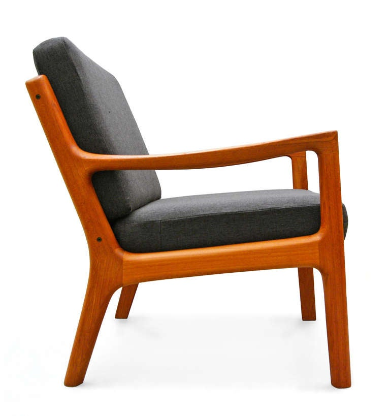 Pair of easy chairs by ole wanscher senator france and for Danish design mobel 60er