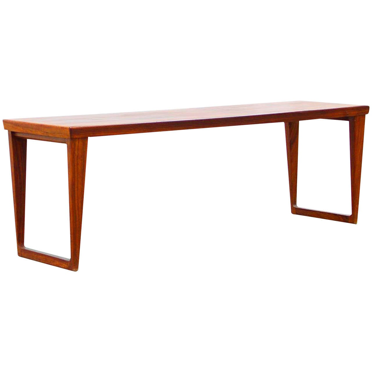 Bench Table By Aksel Kjaersgaard No 36 Rosewood Mid Century Danish Modern At 1stdibs