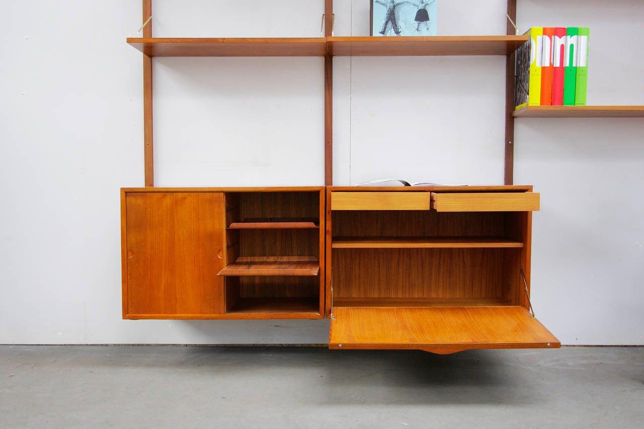 shelving system by poul cadovius royal teak mid century. Black Bedroom Furniture Sets. Home Design Ideas