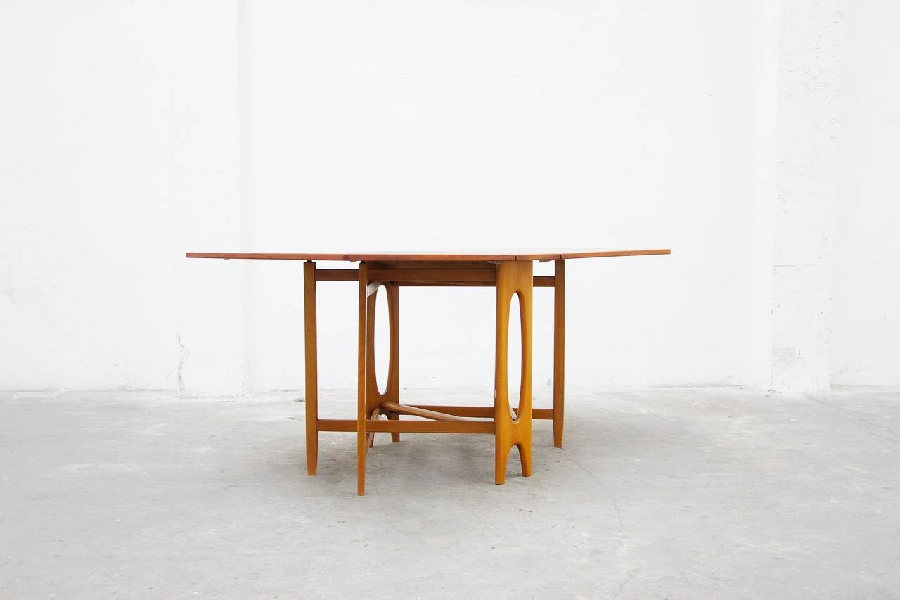 Teak dining table danish modern klapp design 60er 60s denmark l jpeg