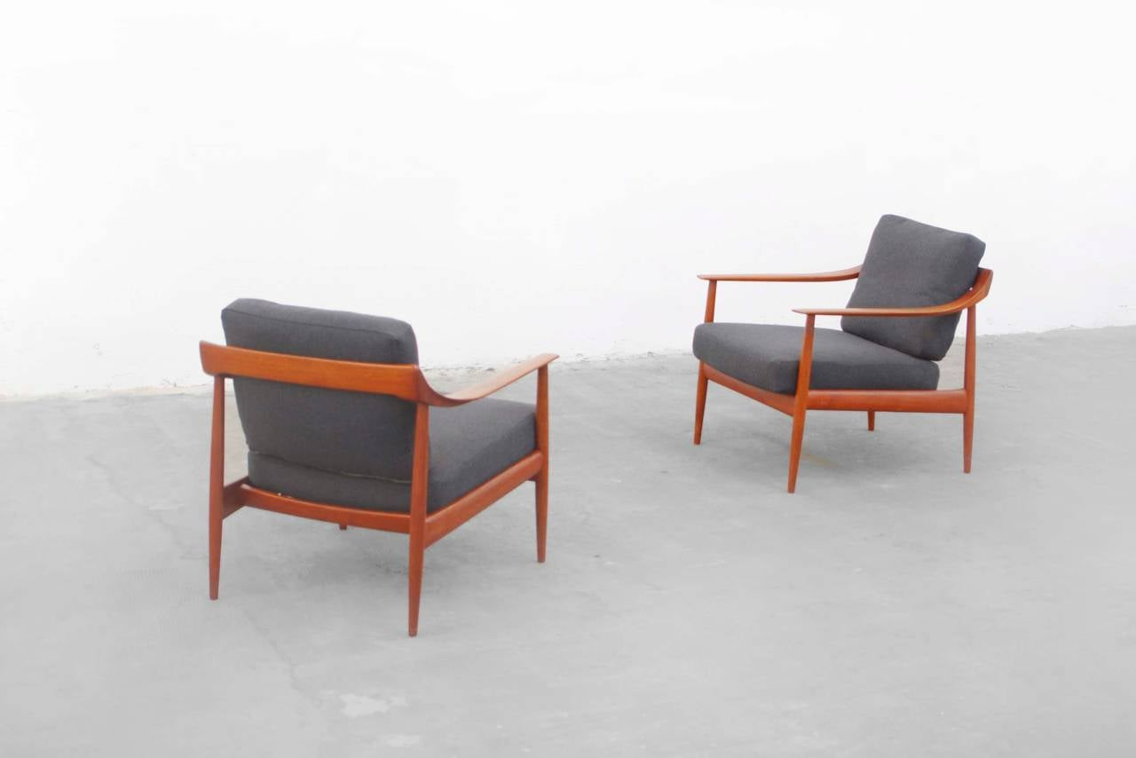 wilhelm knoll antimott easy chair set mid century modern design teak at 1stdibs. Black Bedroom Furniture Sets. Home Design Ideas