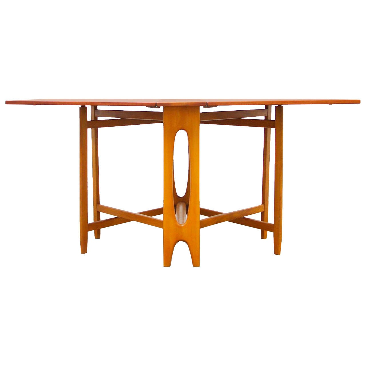 gateleg dining table danish mid century modern design at 1stdibs