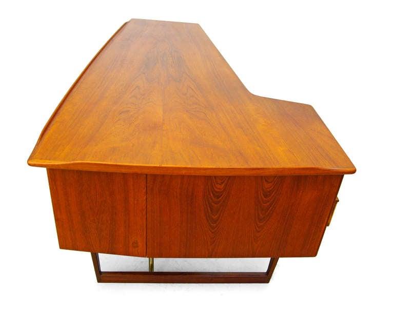 Desk by Peter Løvig Nielsen 1956 Teak Danish Modern at 1stdibs