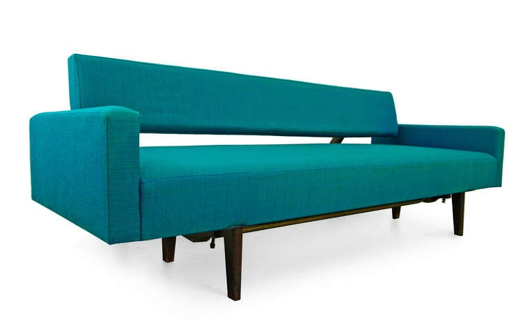 sofa daybed by honeta 1959 franz hohn germany teak 60s. Black Bedroom Furniture Sets. Home Design Ideas