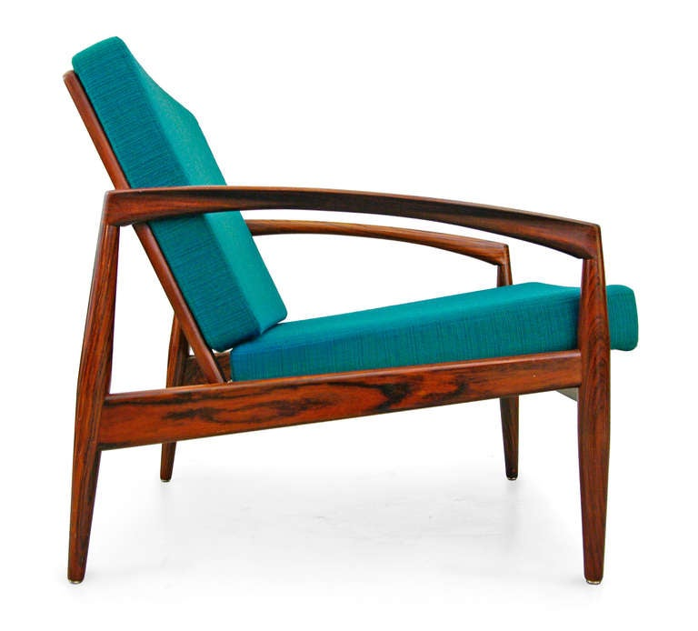 pair of easy chairs by kai kristiansen 1956 rosewood danish modern denmark at 1stdibs. Black Bedroom Furniture Sets. Home Design Ideas