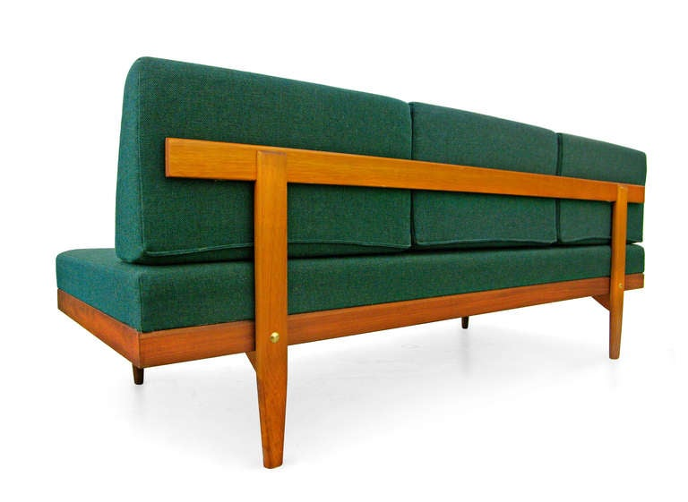sofa daybed by swane norway teak midcentury modern 60s. Black Bedroom Furniture Sets. Home Design Ideas