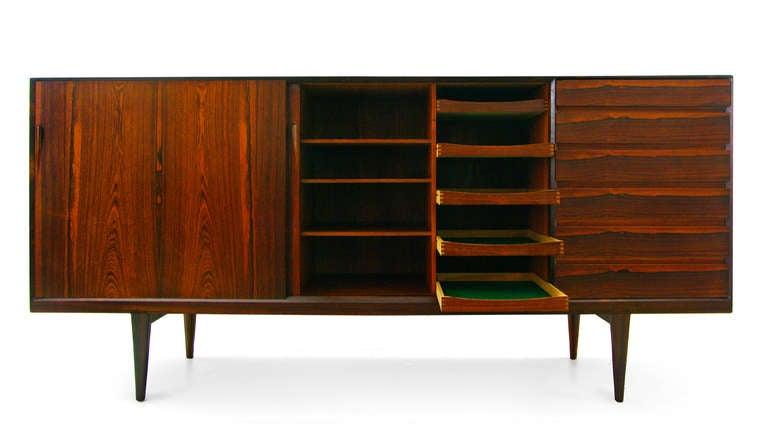 highboard by henry rosengren hansen rosewood danish modern credenza at 1stdibs. Black Bedroom Furniture Sets. Home Design Ideas