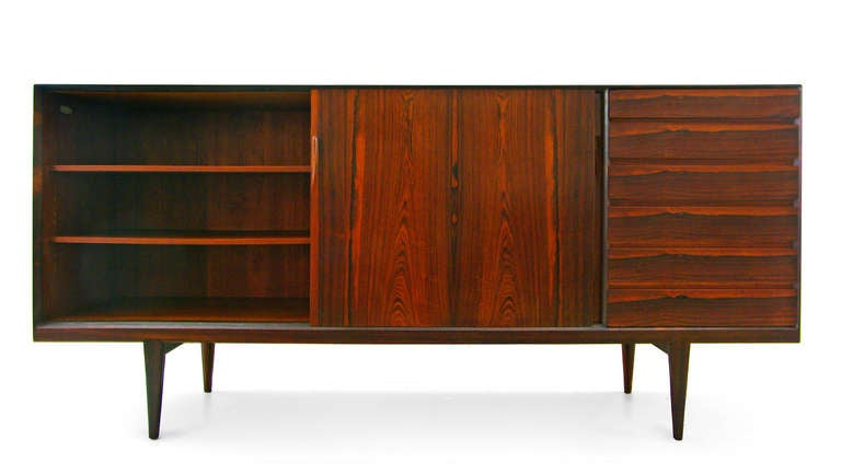 highboard by henry rosengren hansen rosewood danish modern. Black Bedroom Furniture Sets. Home Design Ideas