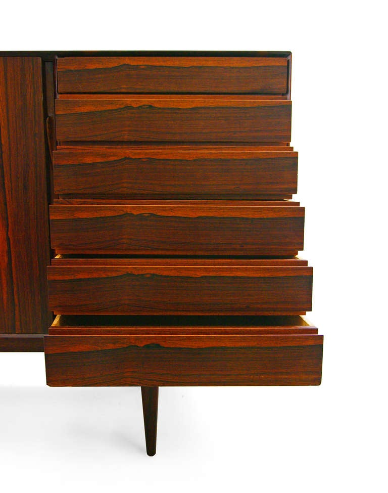 highboard by henry rosengren hansen rosewood danish modern credenza at 1stdibs. Black Bedroom Furniture Sets. Home Design Ideas