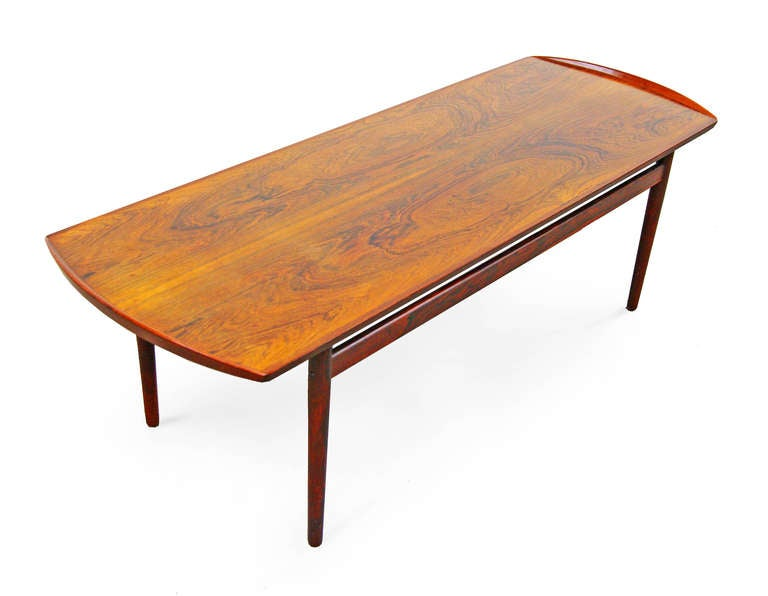Coffee Table In Rosewood Of Mid Century Danish Modern Design At 1stdibs