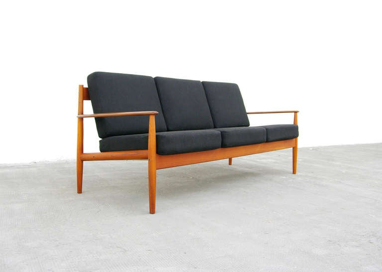 sofa by grete jalk model 118 teak danish modern cado. Black Bedroom Furniture Sets. Home Design Ideas