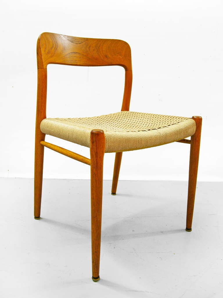set of four dining chairs by niels otto moeller teak