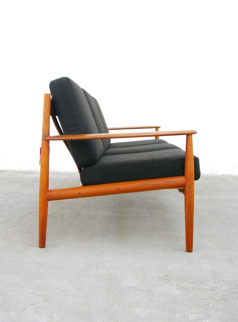 sofa by grete jalk model 118 teak danish modern cado. Black Bedroom Furniture Sets. Home Design Ideas