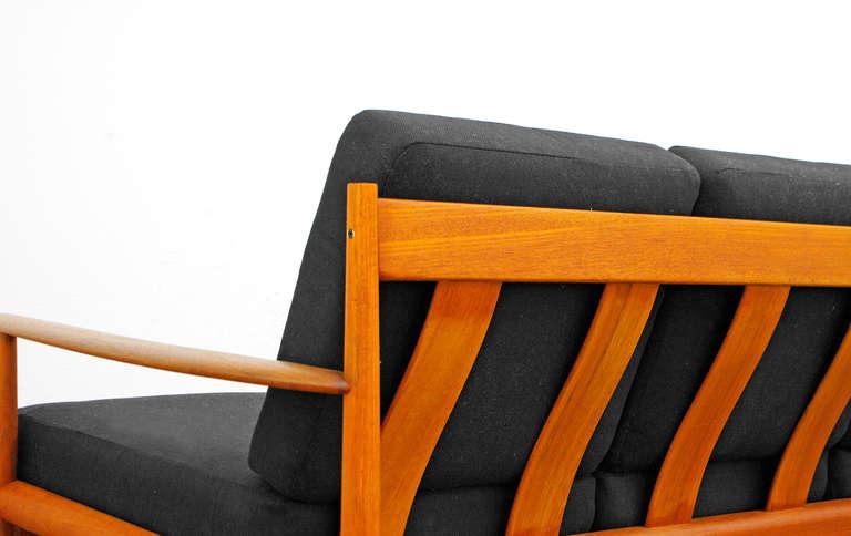 sofa by grete jalk model 118 teak danish modern cado denmark 1950 39 s 1960 39 s at 1stdibs. Black Bedroom Furniture Sets. Home Design Ideas