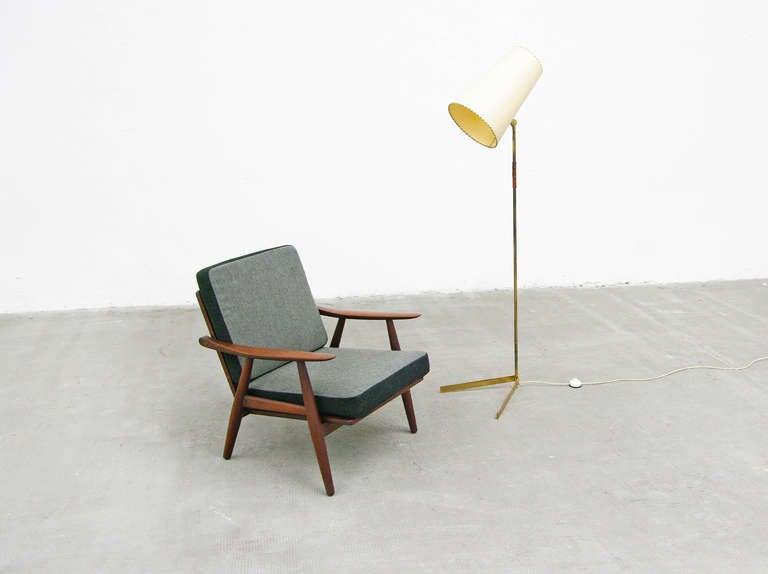 Mid Century Modern Brass Floor Lamp 1950s at 1stdibs
