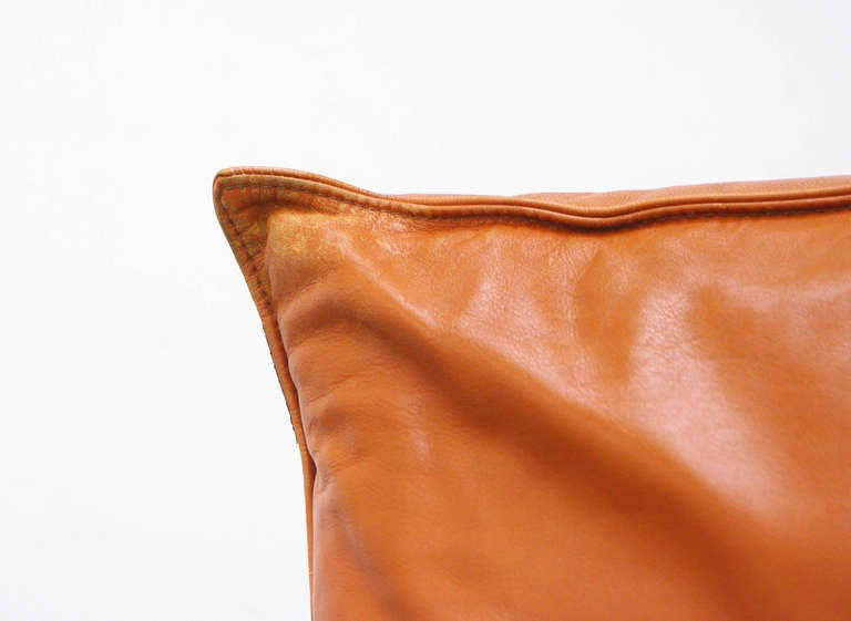 Lounge Chair by Vittorio Varo Italy Design Chatpard Cognac Leather, 1970s 7
