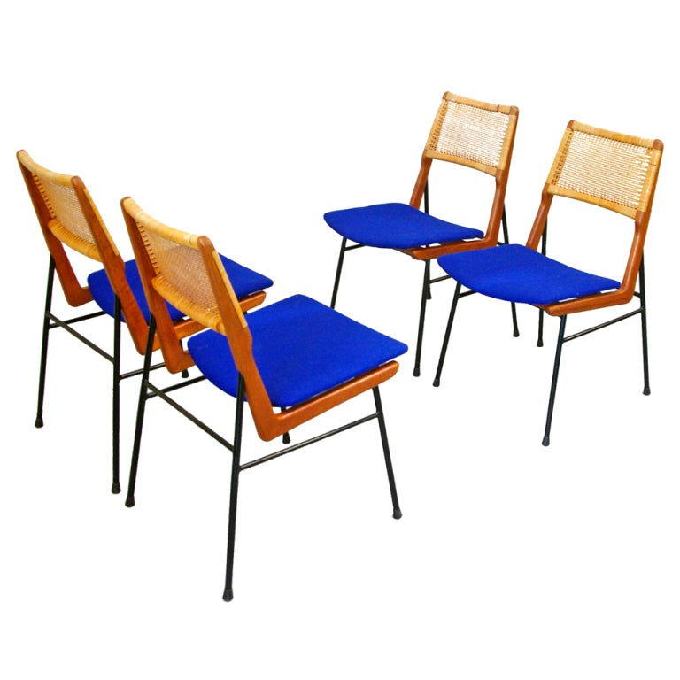 Dining chairs by habeo germany 50s at 1stdibs for Dining room chairs 50