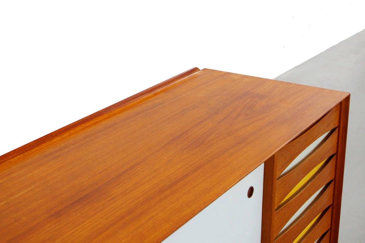 Sideboard by arne vodder os 29 for sibast teak credenza danish modern design at 1stdibs - Danish design mobel ...