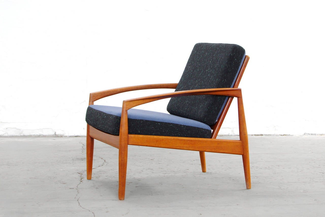 teak easy chairs by kai kristiansen danish mid century. Black Bedroom Furniture Sets. Home Design Ideas
