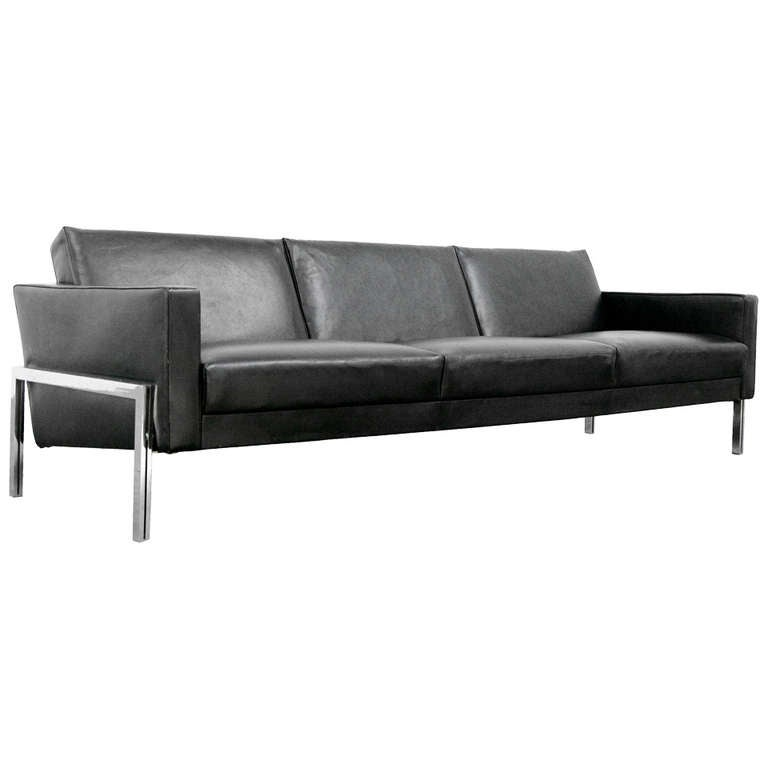 Sofa By Wolfram Winkler For Hans Kauffeld 801 L 1957 Mid Century Modern Leather At 1stdibs
