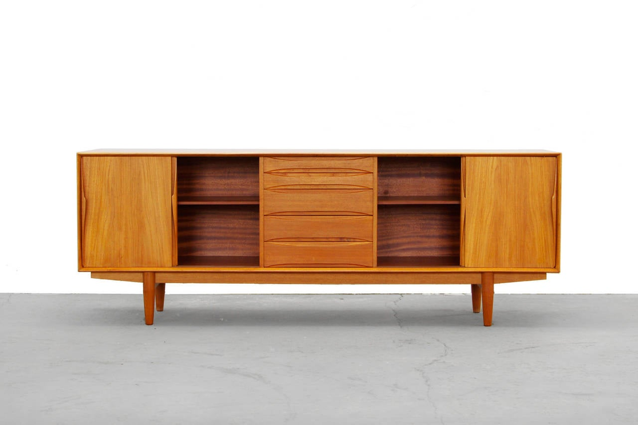 Arne Vodder Teak Sideboard Danish Mid Century Modern