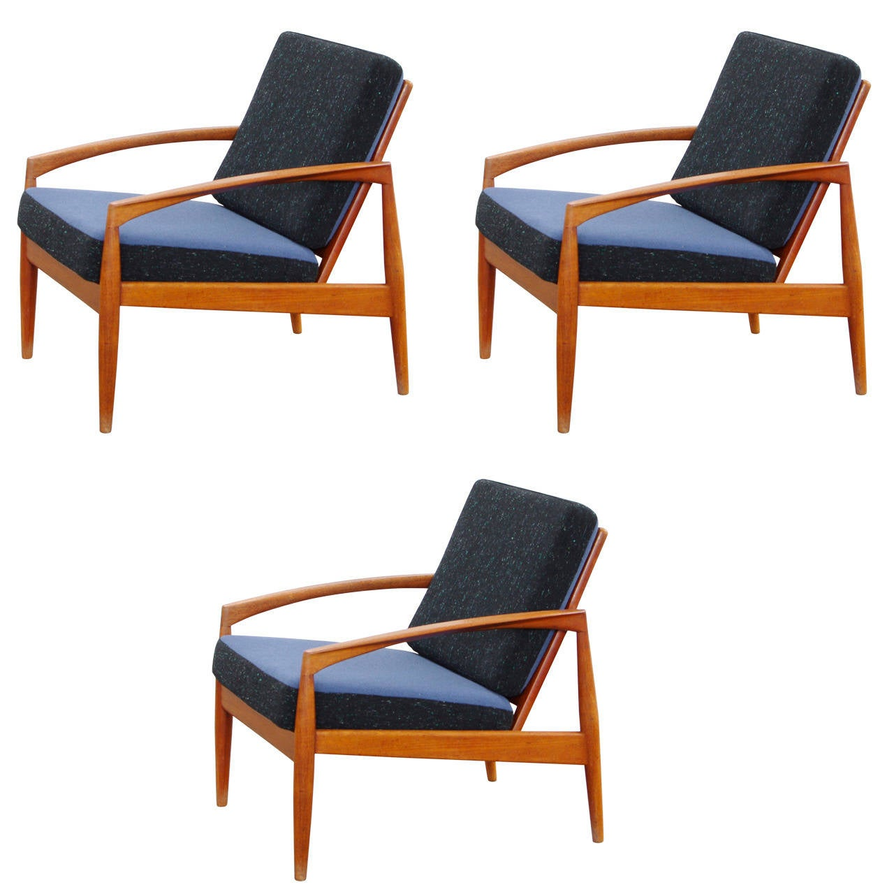 Teak easy chairs by kai kristiansen danish mid century modern design 1950s at 1stdibs - Kai kristiansen chairs ...
