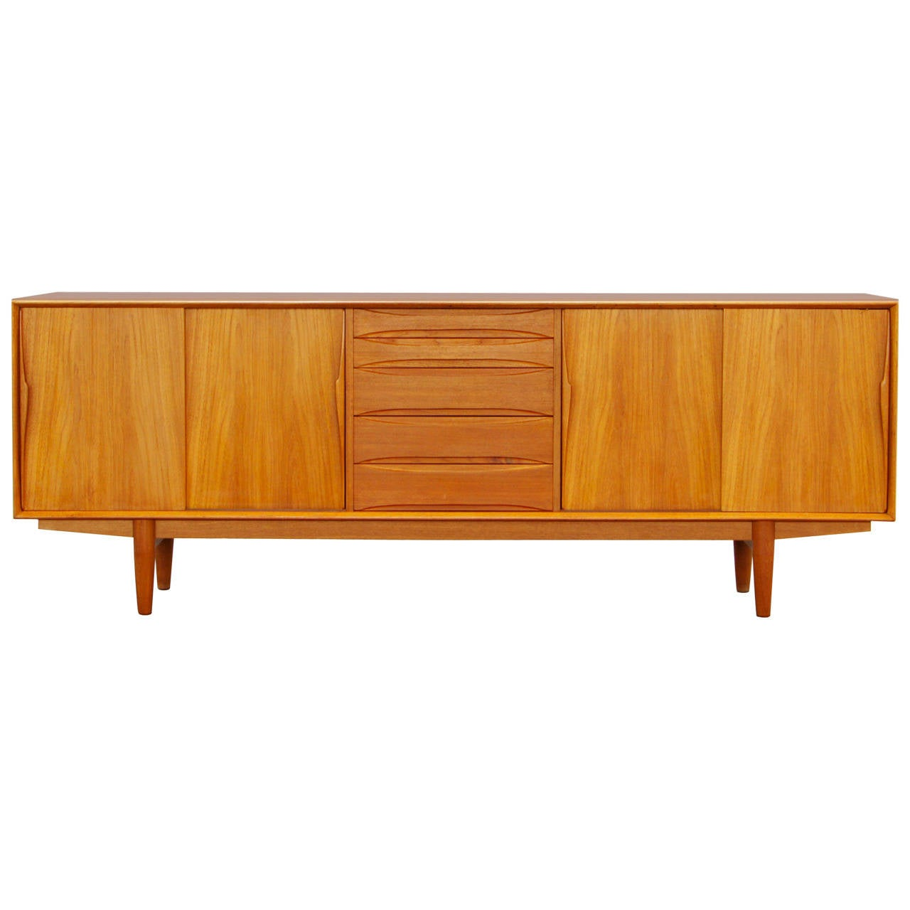 arne vodder teak sideboard danish mid century modern. Black Bedroom Furniture Sets. Home Design Ideas