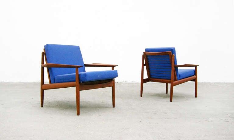 2 easy chair by arne vodder for glostrup teak mid. Black Bedroom Furniture Sets. Home Design Ideas