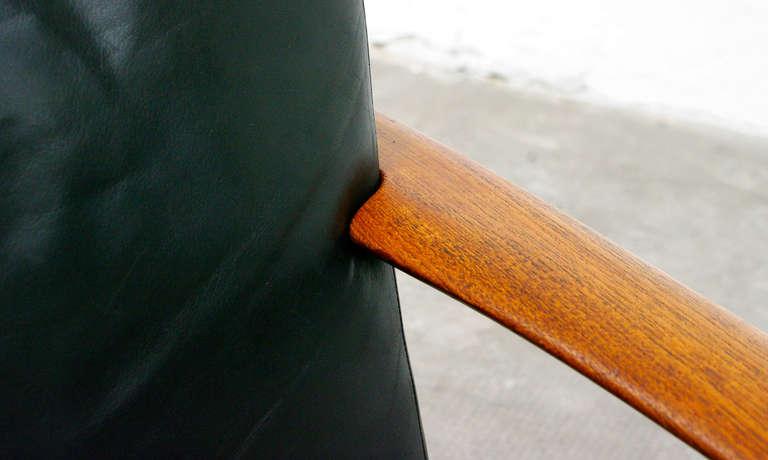 2 easy chair mid century danish modern design teal for Danish design mobel 60er