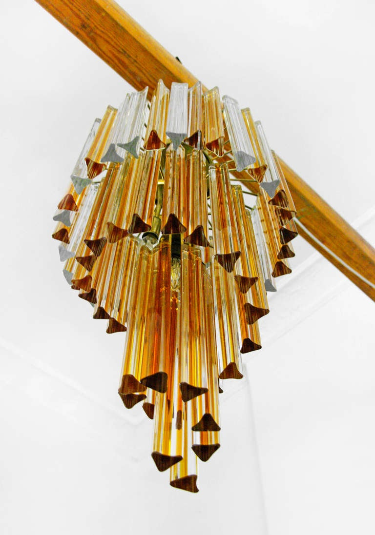 Chandelier By Venini Murano Glas Italy 50s Mid Century
