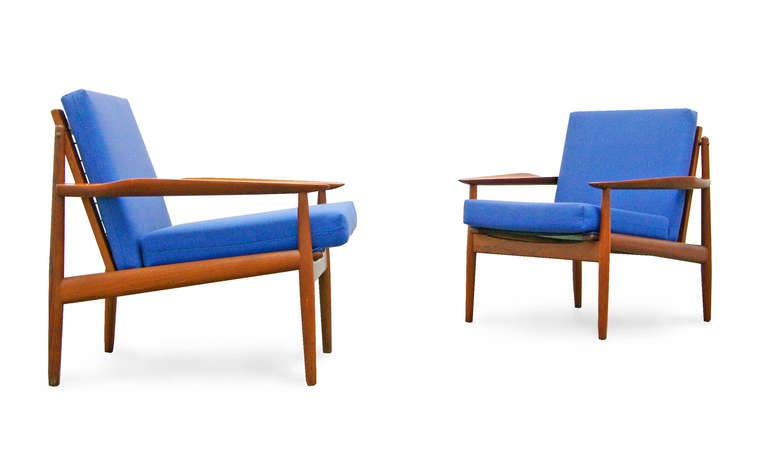 2 easy chair by arne vodder for glostrup teak mid for Designer chairs from the 60s