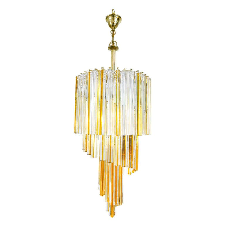 chandelier by venini murano glas italy 50s mid century modern design lamp at 1stdibs. Black Bedroom Furniture Sets. Home Design Ideas