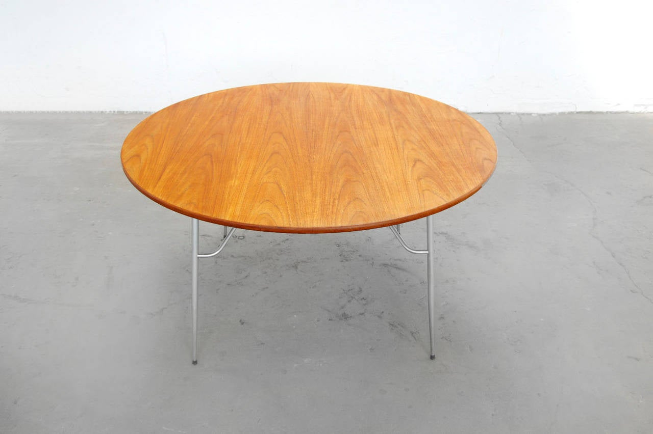Børge Mogensen Teak and Stainless Steel Round Dining Table