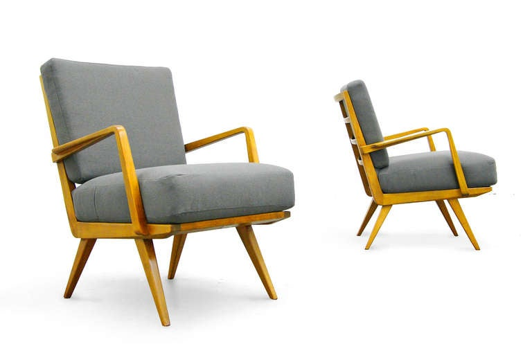 Two Easy Chairs By Wilhelm Knoll Mid Century Modern