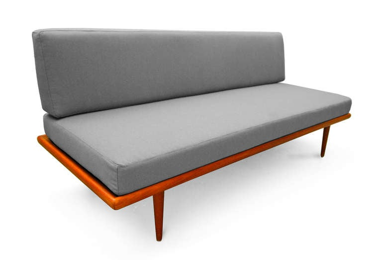 Daybed Sofa Minerva By Peter Hvidt And Orla M Lgaard Nielsen Teak At 1stdibs