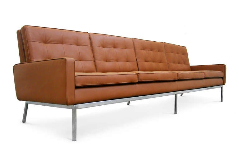 rare 4 seater sofa by florence knoll international at 1stdibs. Black Bedroom Furniture Sets. Home Design Ideas