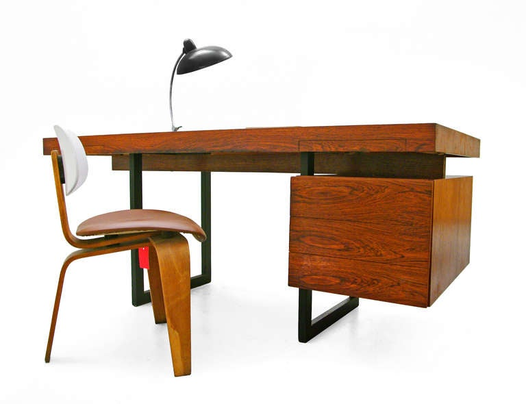 Italian Desk Rosewood 60s 70s at 1stdibs