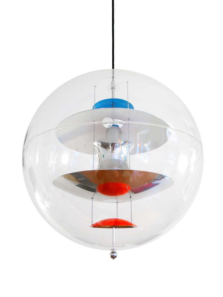 lamp chandelier by verner panton vp globe at 1stdibs. Black Bedroom Furniture Sets. Home Design Ideas